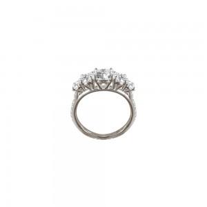 Bague Queen en or blanc et diamants