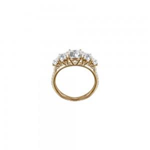 Bague Queen en or jaune et diamants