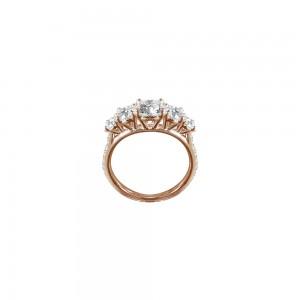 Bague Queen en or rose et diamants