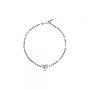 Bracelet Just Joy Heart or blanc et diamant coeur
