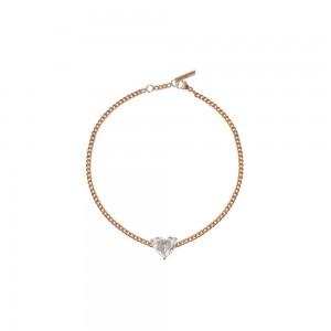 Bracelet Just Joy Heart or rose et diamant coeur